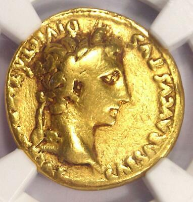 Roman Augustus Gold AV Aureus Coin 27 BC - 14 AD - Certified NGC Fine Condition