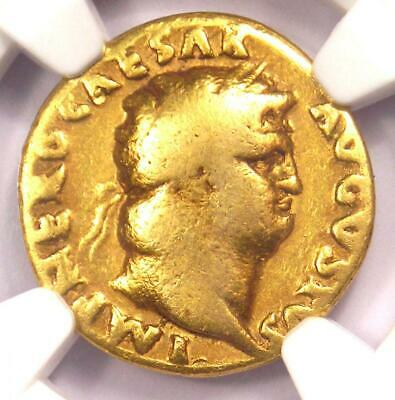 Roman Nero Gold AV Aureus Coin 54-68 AD - Certified NGC VG Condition