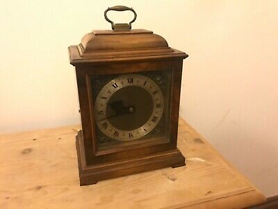 smiths electric walnut cased mantle clock working