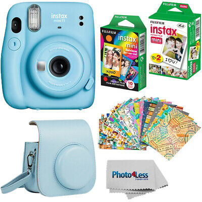 Fujifilm Instax Mini 11 Instant Camera | Twin Pack Film | Rainbow Film | Case