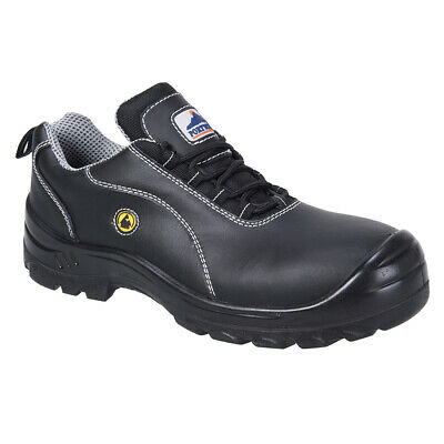 Portwest FC02 Compositelite ESD Leather Lace Up Slip Resistant Work Safety Shoe
