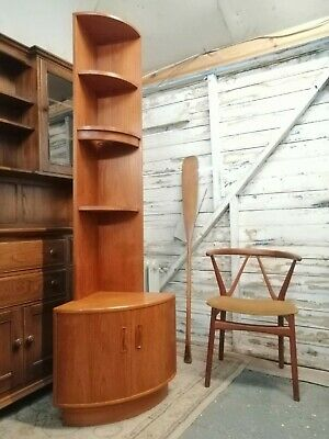 Mid Century Teak G Plan Corner Sideboard & Bookcase Top * NO CONTACT DELIVERY *