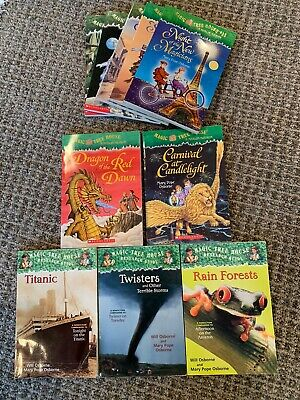 Lot of 10 Magic Tree House books and research guides by Mary Pope Osborne kids