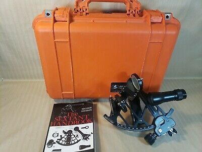 Celestaire Astra III B Marine Sextant w/ Pelican 1500 Case and Book Navigation