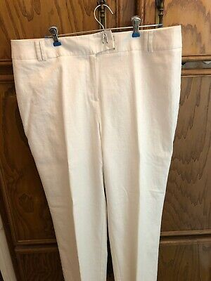 Cato women's size 16 White classic Straight Leg causal slacks pants New With Tag
