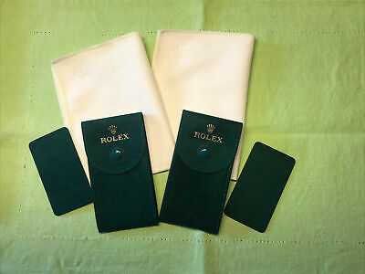 Authentic New style❗️Rolex Velvet travel Pocket Pouchsh & Cleaning cloth 2️⃣set