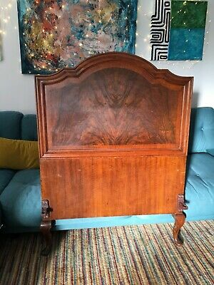 Art Deco Burr Walnut Single Bed
