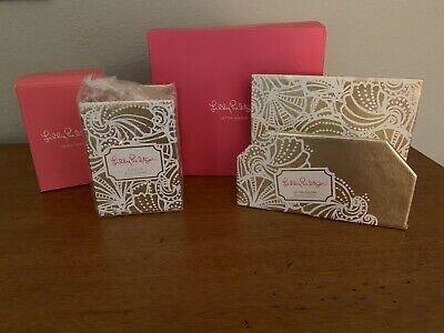 NWT Lilly Pulitzer Mail Holder And Pencil Holder In Seaside Pattern