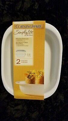 Awesome Simply Lite Corningware 2 piece 2 qt Glass Bakeware Casserole with Lid