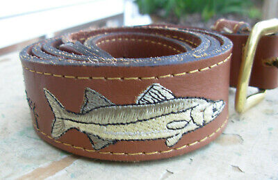 60/% Off Guy Harvey Marlin Lure  Leather Belt Trim Pick Size//Color-Free Ship