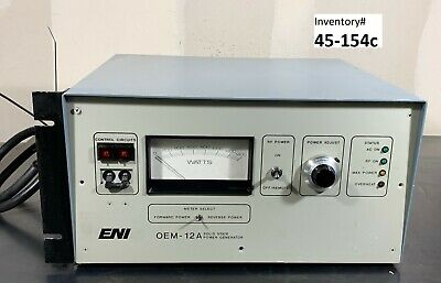 ENI OEM-12A-21041-51 RF Generator, 1250 Watts, 13.56 MHz **used working**