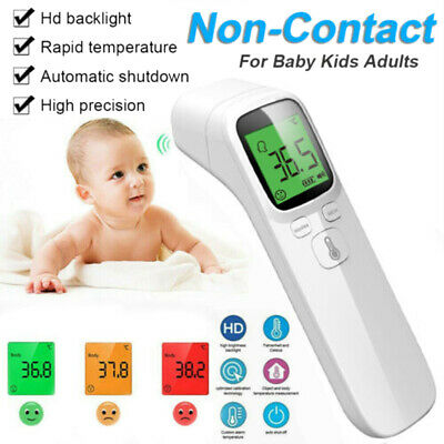 Non-Contact Digital IR Infrared Forehead Thermometer Gun Adult Body Temperature