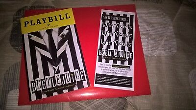 Beetlejuice,  2018, Playbill & Flyer World Premiere Musical Pre-Broadway Wash DC