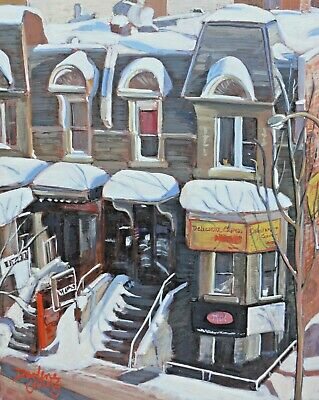 View From My Window, 8x10, Egg Tempera, Darlene Young Canadian Artist
