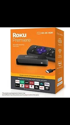 Roku Premiere | HD/4K/HDR Streaming Media Player with Simple RemoteAnd HDMI