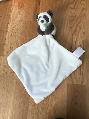 The Little White Company Unisex Panda Baby Comforter Blankie Soft Baby Toy Teddy