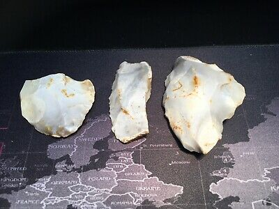 Neolithic Group Of Flint Tools Found Togeather.prehistoric