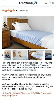 2 x Brolly Sheets With Wings (King Single/Single Size) Blue