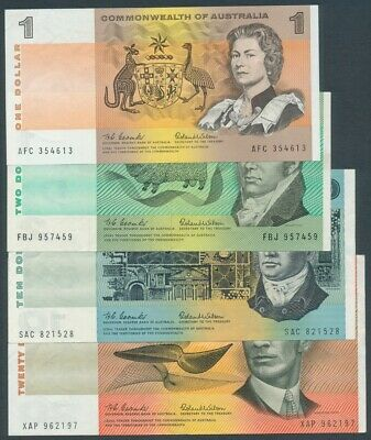 Australia 1966 $1-$20 Coombs-Wilson 4 Note Collection