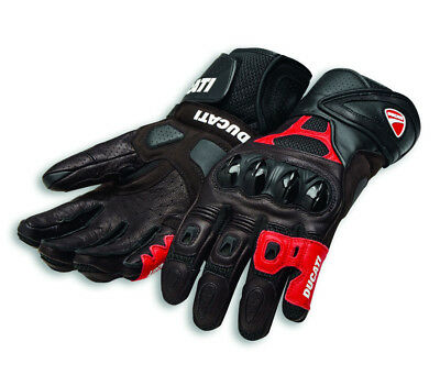 DUCATI Alpinestars SPEED AIR C1 Racing Leder Handschuhe Gloves schwarz rot NEU