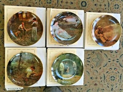 5 (FIVE) PLATE MASTERPIECES OF FREDERICK McCUBBIN COLLECTORS PLATE SERIES