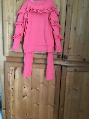 Pink Girls Tracksuit  8 Yrs