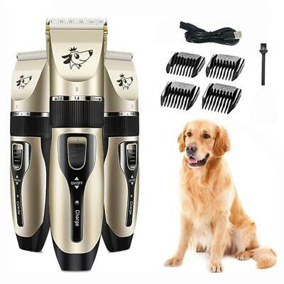 Electric Pet Dog Grooming Clippers Cordless Pet Hair Shaver Grooming Trimmer Kit