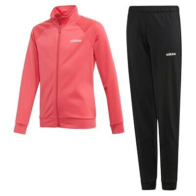 Adidas Girls Full Tracksuit Pink Black Age 7/8 9/10 11/12 13/14 14/15 Years £35