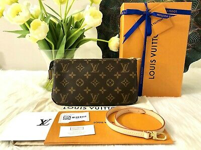 NWT Auth LOUIS VUITTON Pochette Accessoires NM Monogram Canvas Shoulder Bag