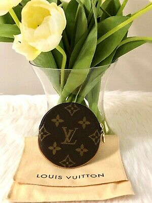 Auth LOUIS VUITTON Round Coin Purse Monogram Canvas