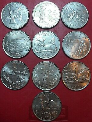 USA Coin 10 State Quarters