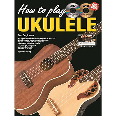 Learn To Play Ukulele How To Play Ukulele Tutor Book CD & DVD & Online Video G2