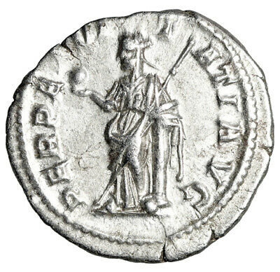 "Severus Alexander AR Denarius ""Perpetuitas by Column"" Scarce Good VF"