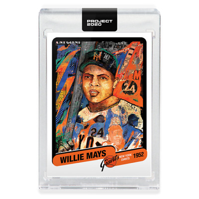 Topps PROJECT 2020 Card #15 Willie Mays by Andrew Thiele Giants Pre-Sell