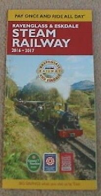 2016 Ravenglass & Eskdale Steam Railway Lake District Fold Out Guide Leaflet