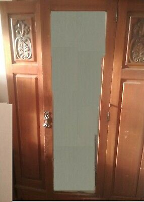 Circa 1950s-1960s Antique Wardrobe with Mirror and Drawer