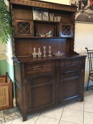 Antique Victorian Wooden Mahogany Welsh Dresser by Stanley Wood of Olney Bucks