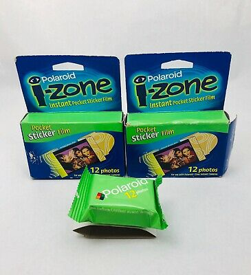 Polaroid I-ZONE Instant Pocket Sticker Film 3 Pack 12 Photos (36) Exp 08/01