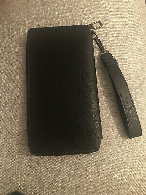 BNWOT Zara Large Black Purse With Wristlet