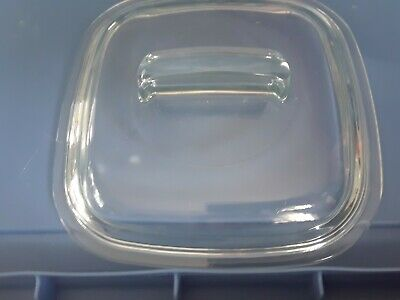 """Pyrex Corning Ware 648-C Simply Lite Clear Glass 7-1/2"""" Lid For 1-1/2 Qt Baker"""