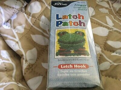 Latch Hook kit FROGGY 15x15 cm finished size NWOT Unwanted gift
