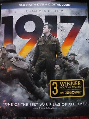 Genuine Usa Release 1917 Blu-Ray Dvd Digital Slipcover Brand New Sealed