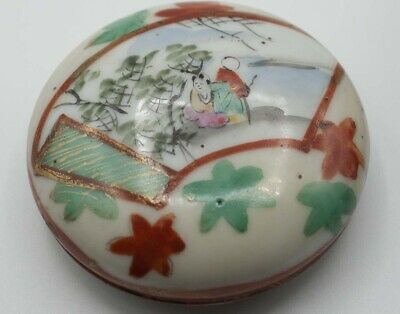 TRINKET Box Oriental Style Chinese Ceramic