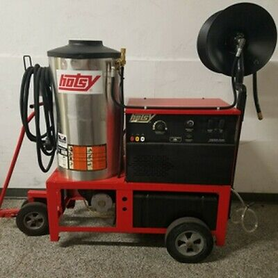 Used Hotsy 1410SS Hot 1PH/Diesel 4GPM @ 3000PSI Pressure Washer & Reel