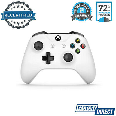 Microsoft Xbox One Wireless Controller White Video Gaming Console Accessories