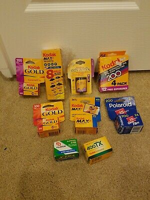 Kodak, Polaroid, Fujifilm lot: Kodak Max, Kodak advantix, one Film, 400 tx