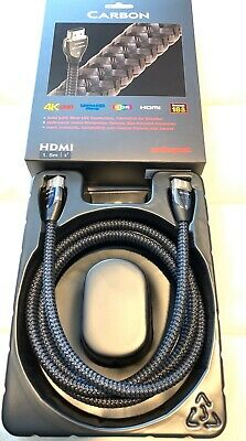 AudioQuest Carbon HDMI Cable 1.5M Meter 5' ft - 4K UHD UltraHD HDR 3D 18Gbps