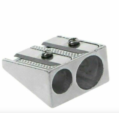 High Quality Sharp Blade Metal Double Hole Pencil Sharpener Double 2 Holes