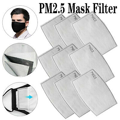 10/20/40/50Pcs PM2.5 5Layer Filter Paper Activated Carbon Breathing Filters