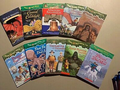 Lot of 10 Magic Tree House Paperback Books   Mary Pope Osborne